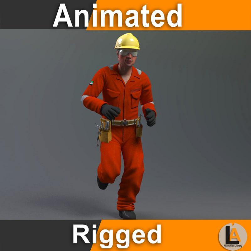 construction worker model