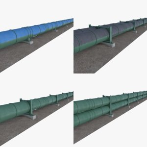 3D oil natural gas pipelines
