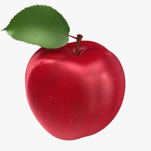 realistic apple 3D model