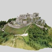 castle beckov 3D model