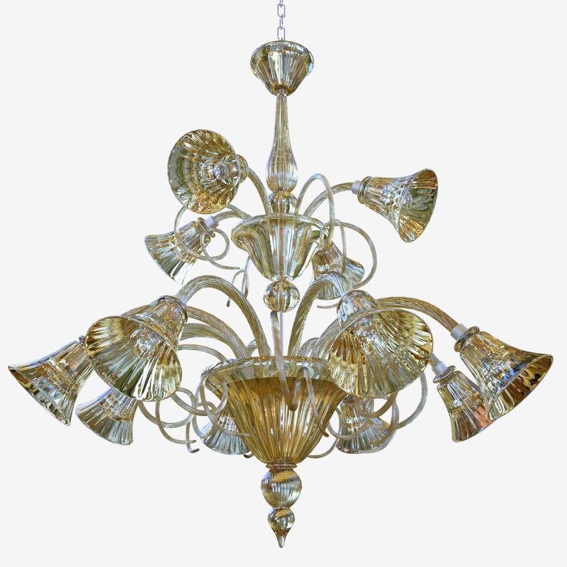 3D model chandeliers lights sylcom venier