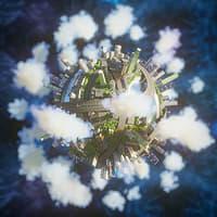 Planet City concept, vray/corona renderer
