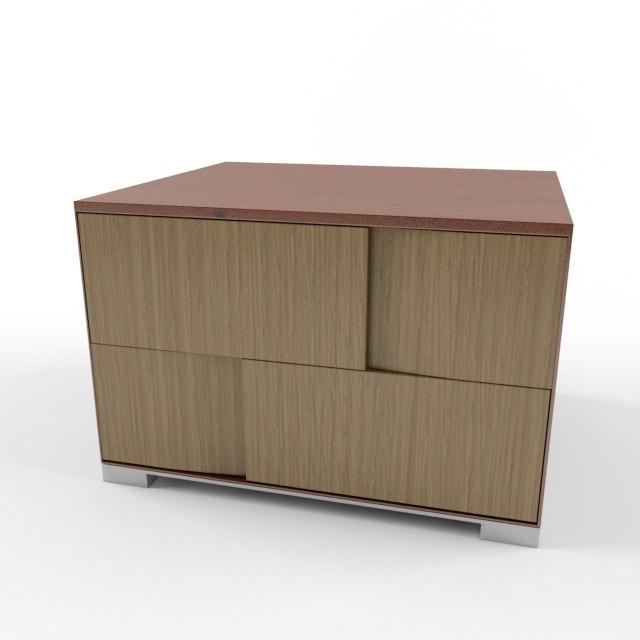 drawer table 3D model
