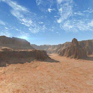 mountain landscape terrain model
