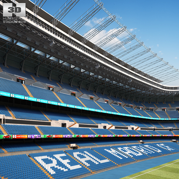 santiago bernabeu stadium 3D model