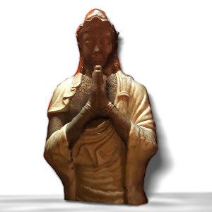 3D indian budha model