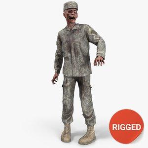 ready zombie army 3D model