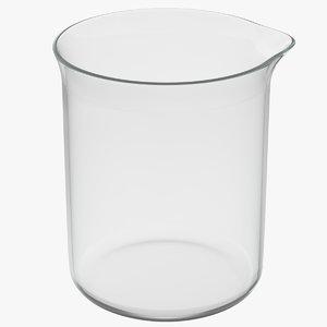 3D beaker model