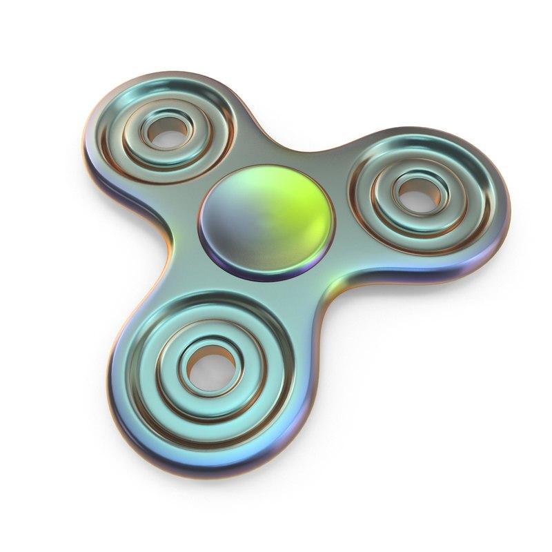 zinc fidget spinner 3D model
