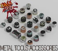 3D model metal tools accessories