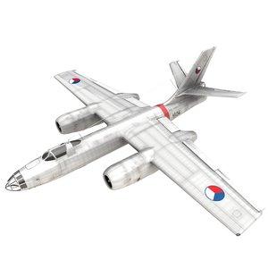 3D ilyushin il-28 bomber czechoslovak model