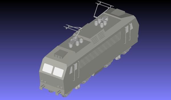3D czech locomotive 363 engine model