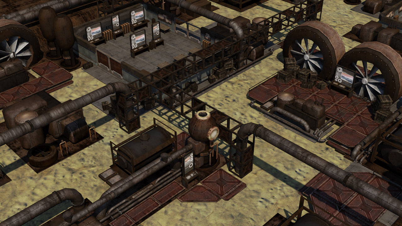 - steampunk industrial environment 3D model