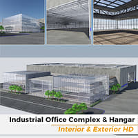 Industrial Office Complex and Hangar Building - Interior and Exterior HD