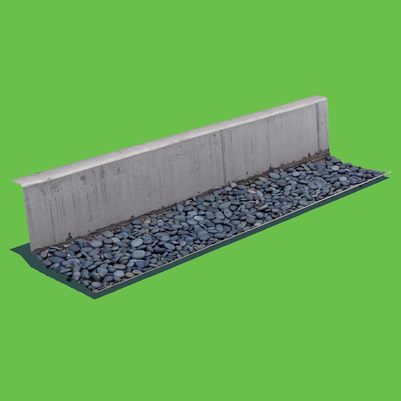 wall rock scan 3D model