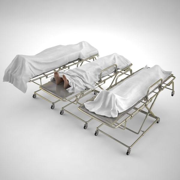 3D dead covered sheet stretcher