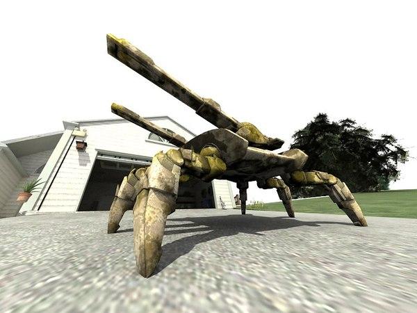 futuristic robot spider tank 3D model