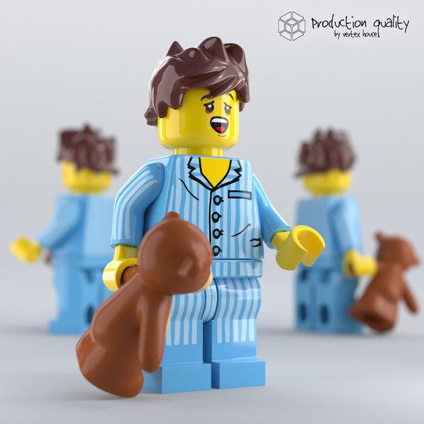 lego sleepyhead figure 3D