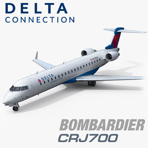 3D bombardier crj700 delta connection model