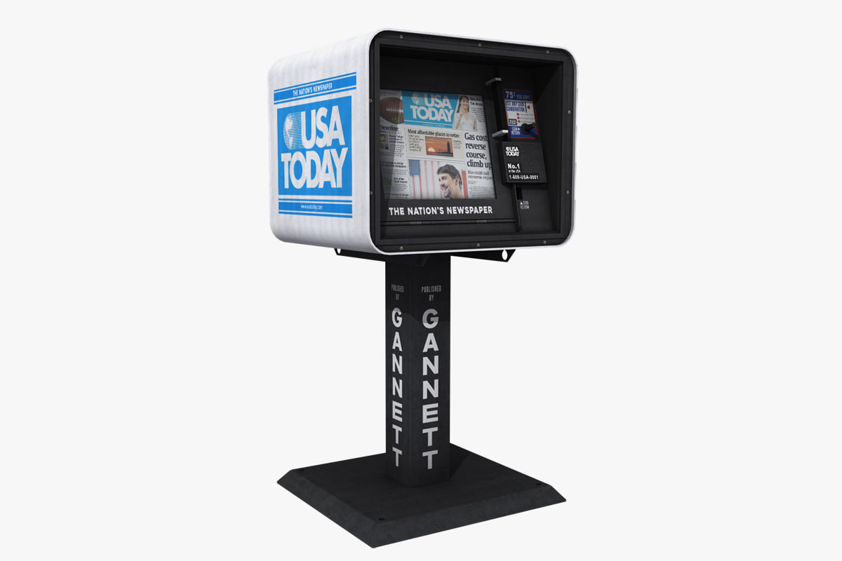 usa today newspaper dispenser 3D model