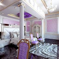 3D classic bedroom model