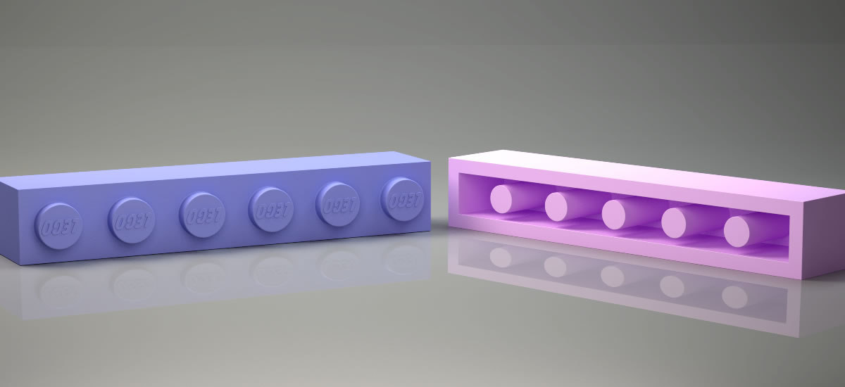 lego brick 1x6 compatible model