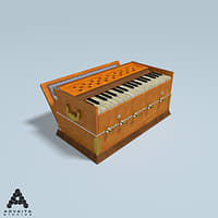harmonium indian traditional 3D model