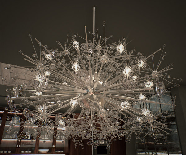 3D chandelier unreal model