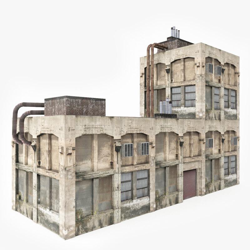 old abandoned factory 3D model