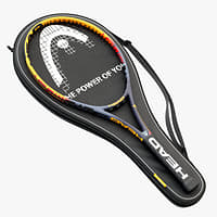 3D tennis rackets head case model