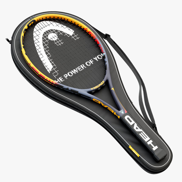 3D tennis rackets head case model