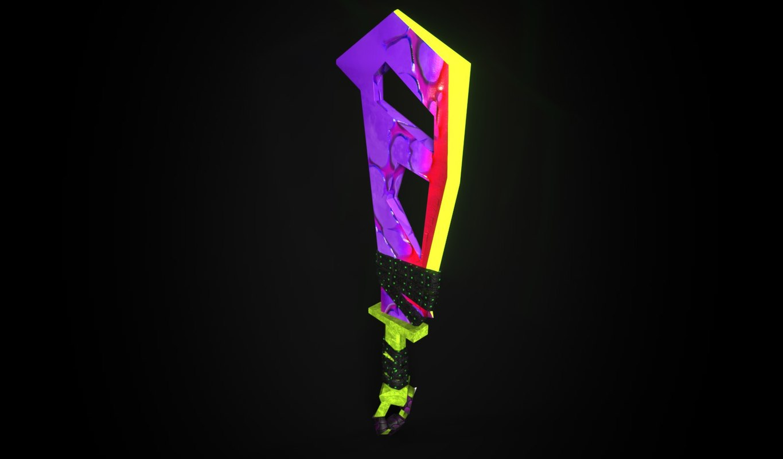 3D rpg cleaver model