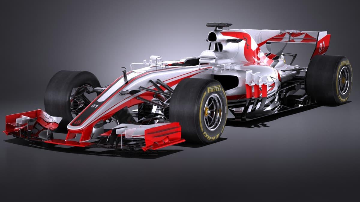 3D model formula 1 2017