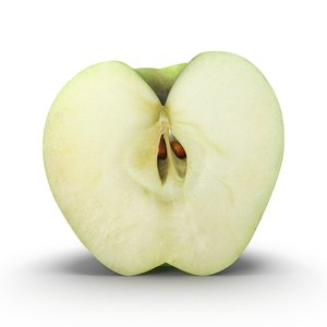 apple cross section apple1 3D model