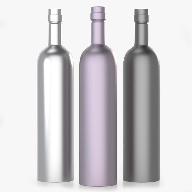 3D model metal bottle