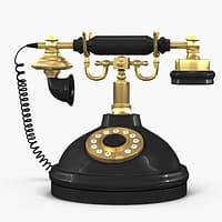 3D vintage phone