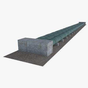 water pipeline 1 3D model