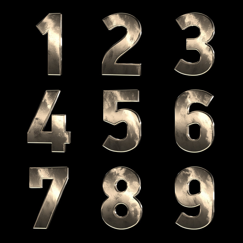 numbers countdown 3D