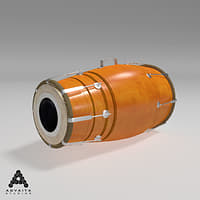 3D dholki dholak indian model