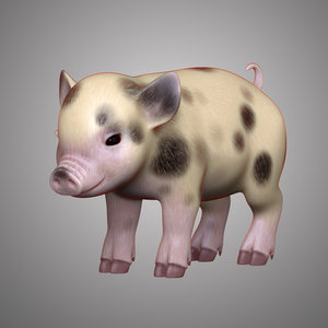 mini pig 3D model