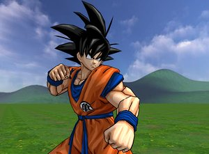 character goku rigged 3D