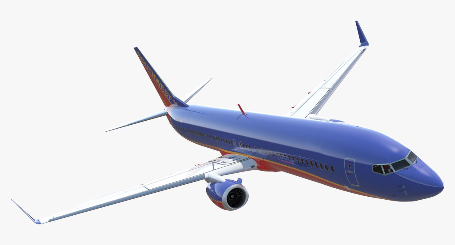 3D boeing 737-900 southwest airlines model