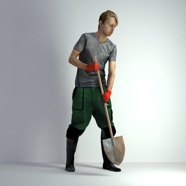 scanned man 3D model