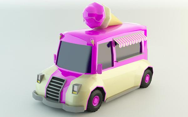 3D ice-cream van polys