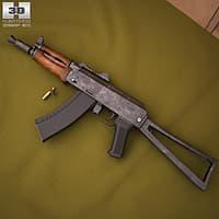 3D ak aks-74u 74 model
