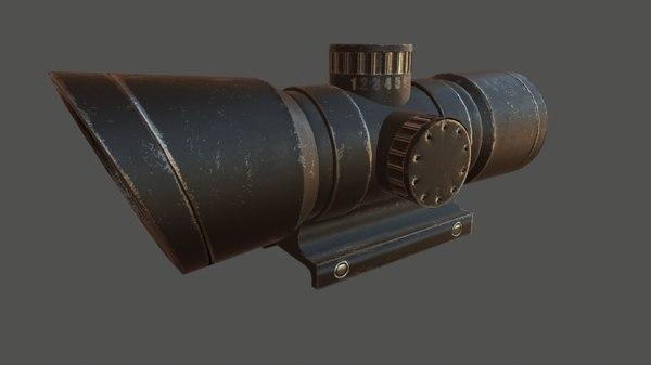 3D optical sight model