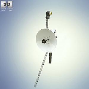 3D model voyager 1