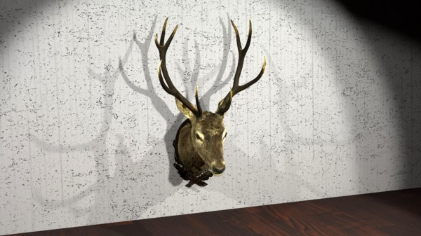 3D stag head model