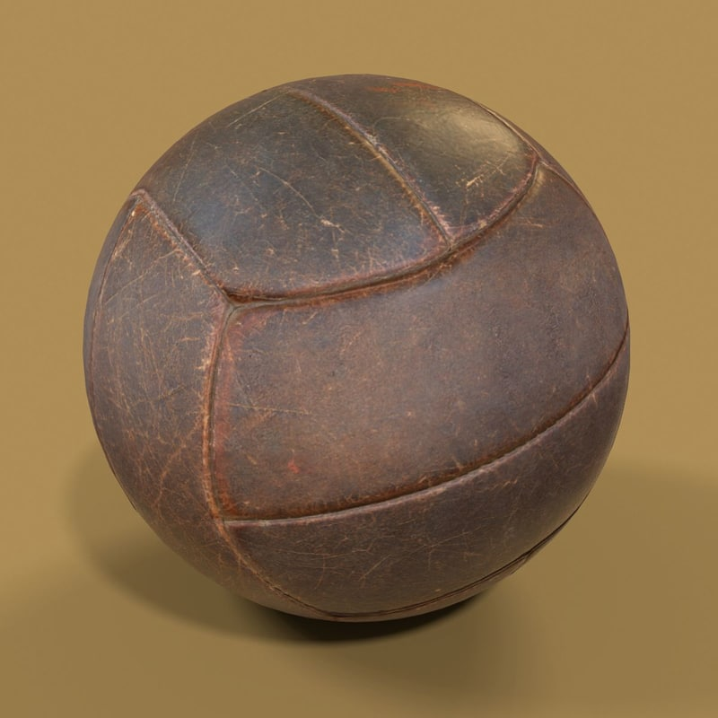 leather ball basketball 3D
