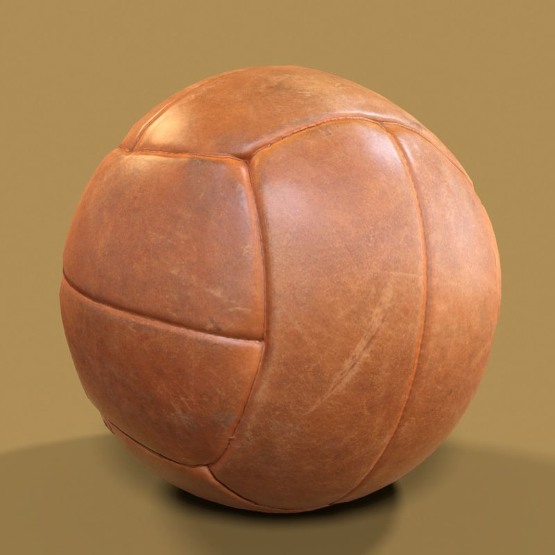 3D leather ball basketball model